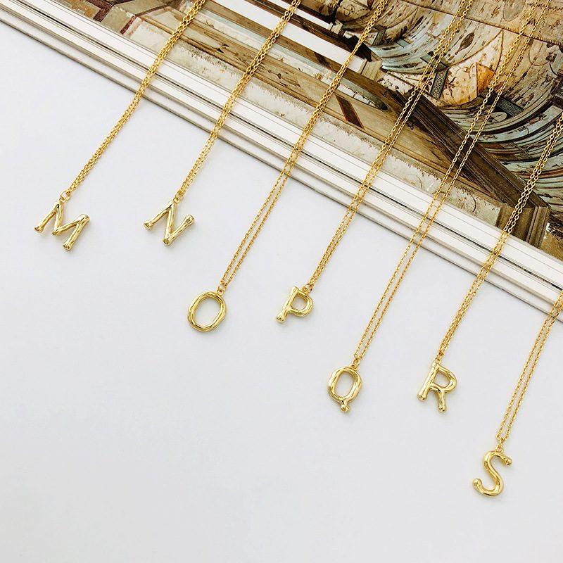 Dây chuyền bạc mạ vàng chữ viết LILI_521849-2