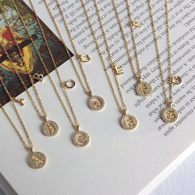 Dây chuyền bạc mạ vàng chữ viết LILI_928314-01
