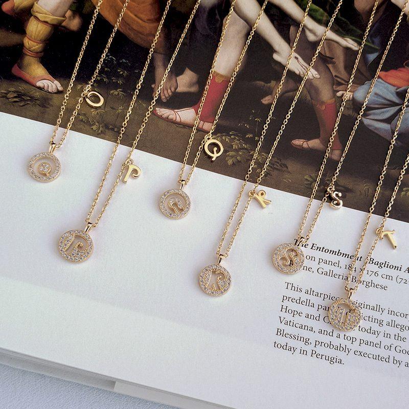 Dây chuyền bạc mạ vàng chữ viết LILI_928314-03