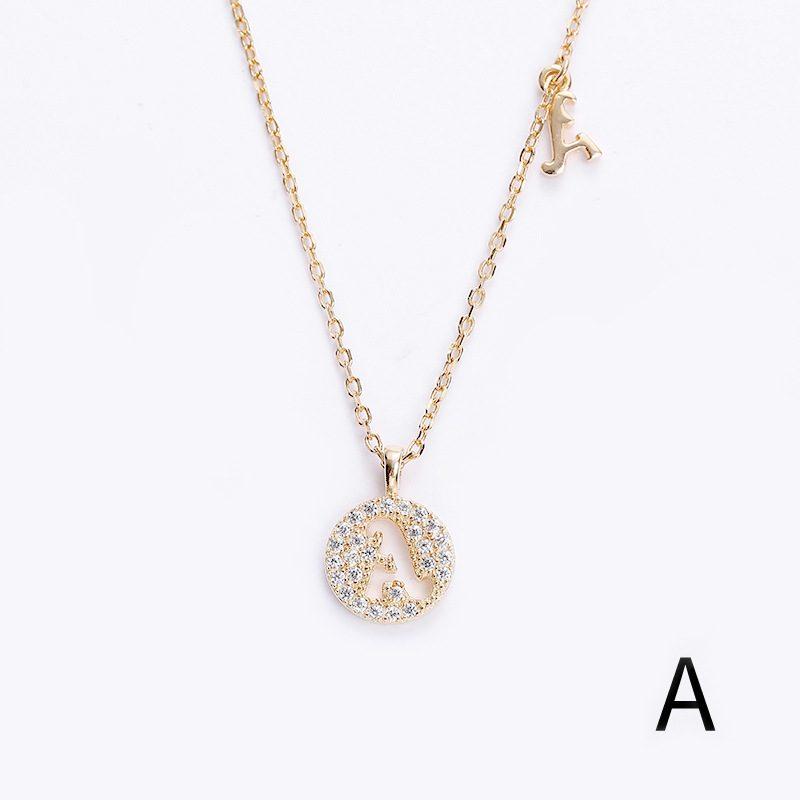 Dây chuyền bạc mạ vàng chữ viết LILI_928314-a