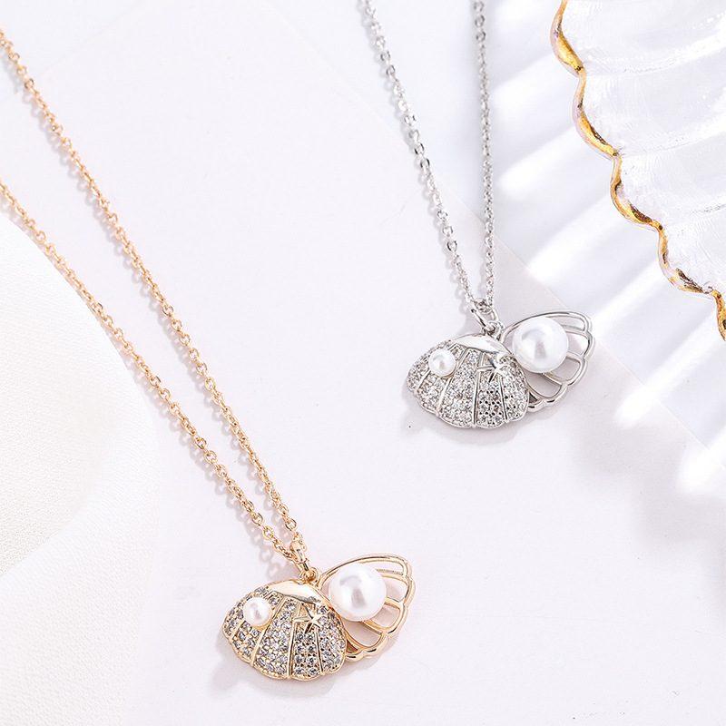 Dây chuyền bạc mạ vàng đính ngọc trai LILI_175836-1