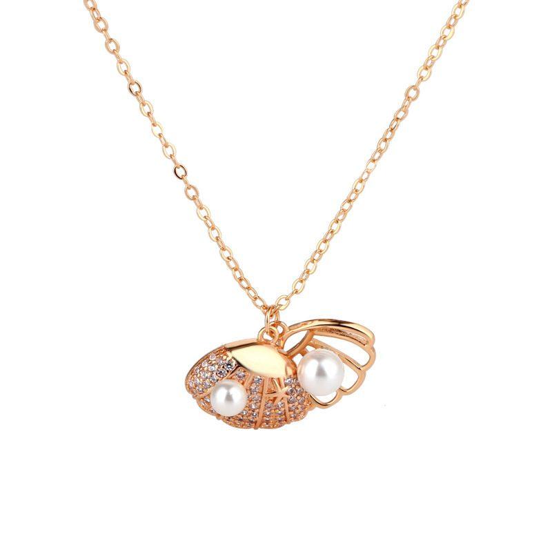 Dây chuyền bạc mạ vàng đính ngọc trai LILI_175836-7