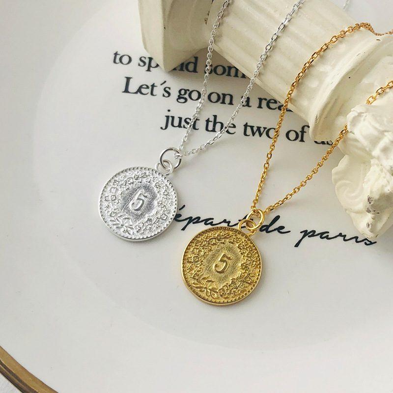 Dây chuyền bạc mạ vàng đồng xu LILI_264196-2