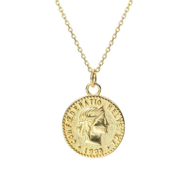 Dây chuyền bạc mạ vàng đồng xu LILI_264196-6