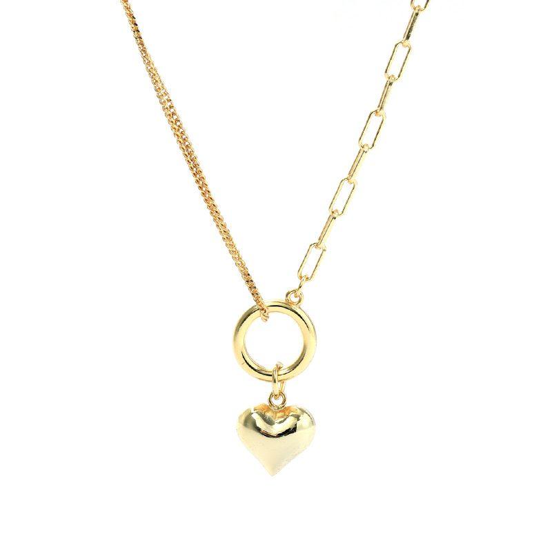 Dây chuyền bạc mạ vàng trái tim LILI_939266-1