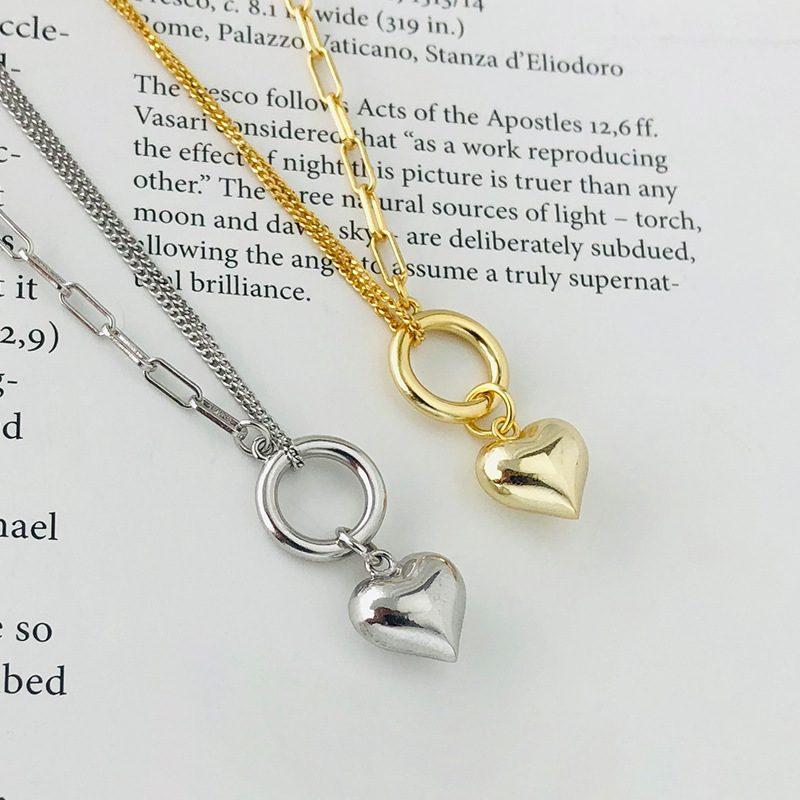 Dây chuyền bạc mạ vàng trái tim LILI_939266-4