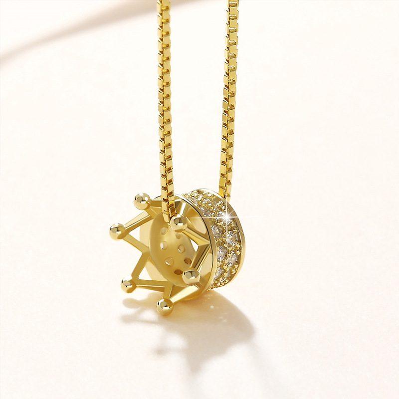 Dây chuyền bạc mạ vàng vương miện LILI_895879-5