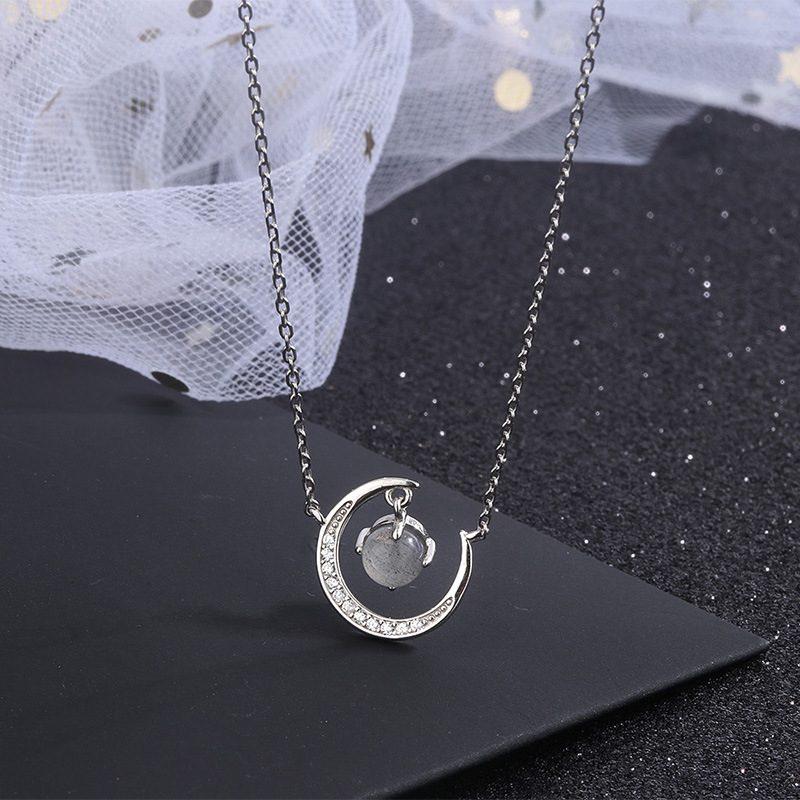 Dây chuyền bạc mặt trăng đính pha lê LILI_477232-2
