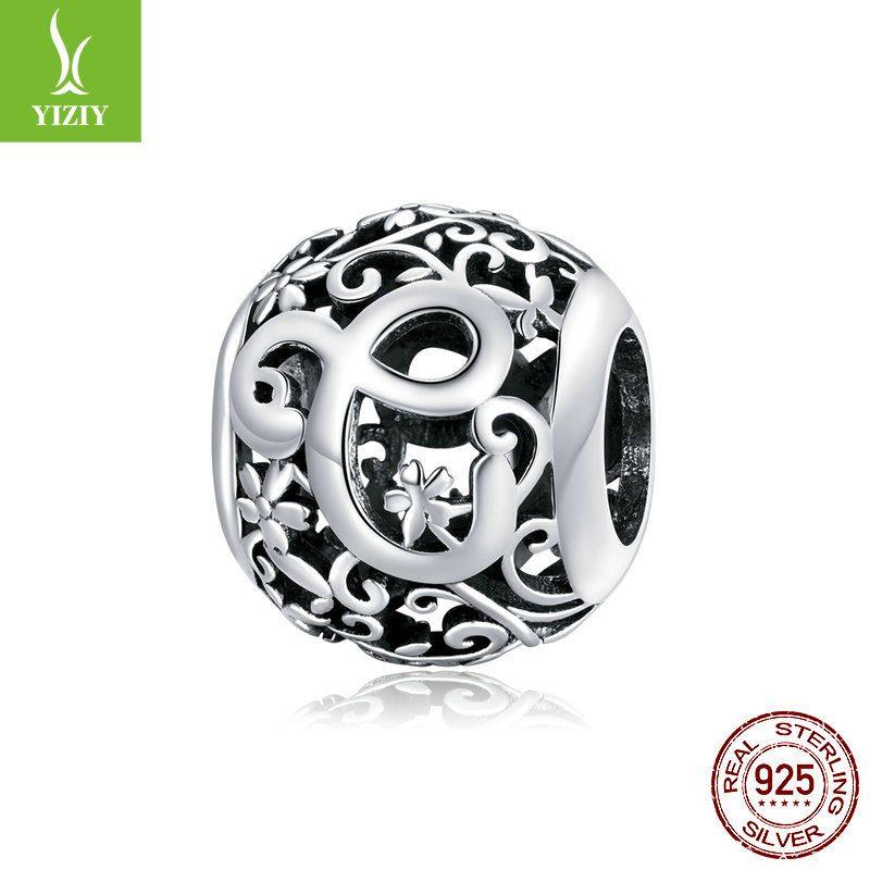 Hạt charm bạc xỏ DIY theo chữ cái LILI_246618-23