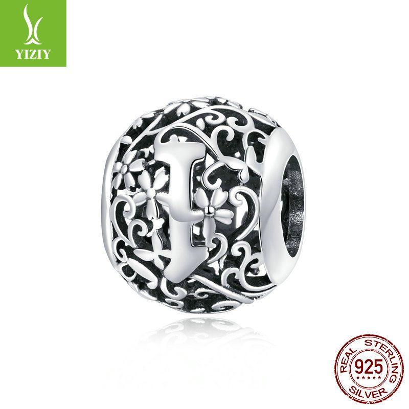 Hạt charm bạc xỏ DIY theo chữ cái LILI_246618-26