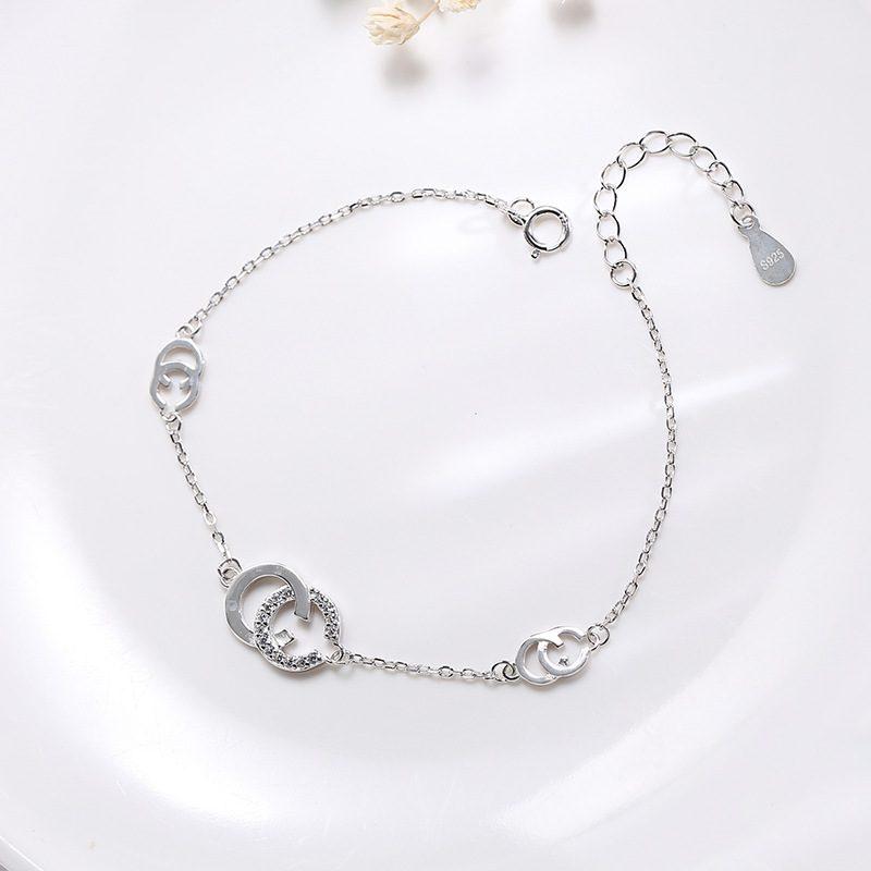 Vòng tay Lắc tay bạc Double C LILI_138325-01