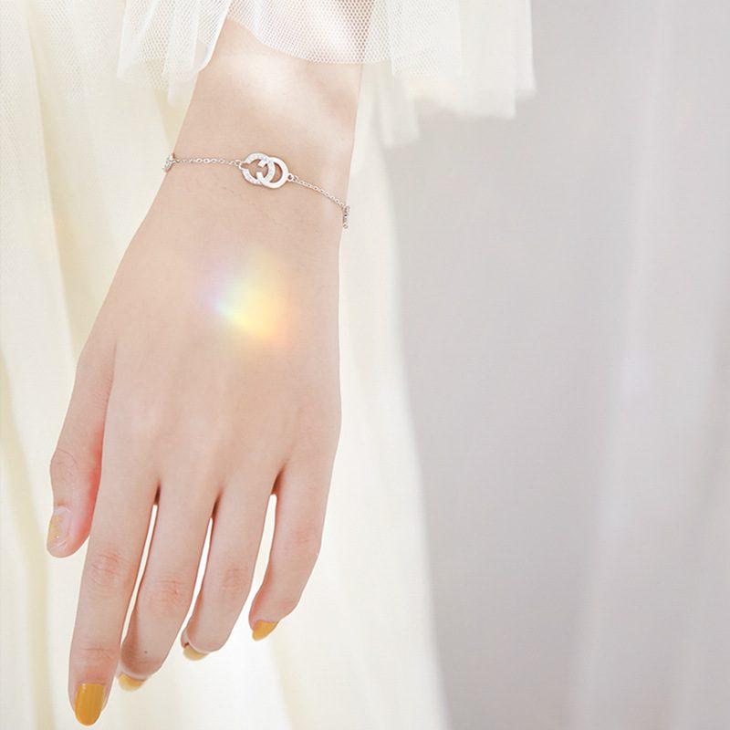 Vòng tay Lắc tay bạc Double C LILI_138325-02