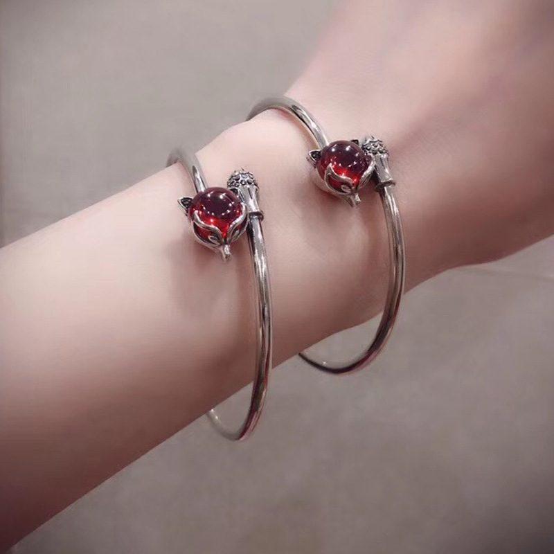 Vòng tay Lắc tay bạc đính đá quý Corundum LILI_955243-01