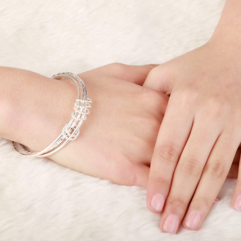 Vòng tay Lắc tay bạc mạ bạch kim LILI_215771-01