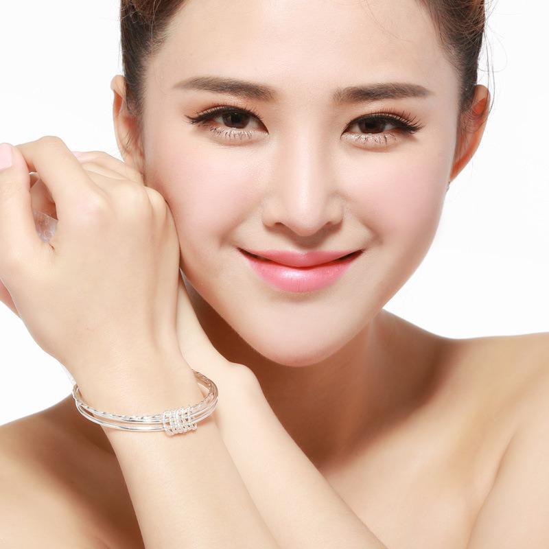 Vòng tay Lắc tay bạc mạ bạch kim LILI_215771-03