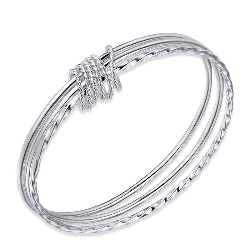 Vòng tay Lắc tay bạc mạ bạch kim LILI_215771-04