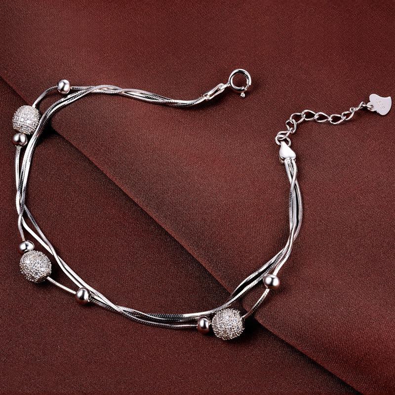 Vòng tay Lắc tay bạc mạ bạch kim đính đá Zircon LILI_897722-02