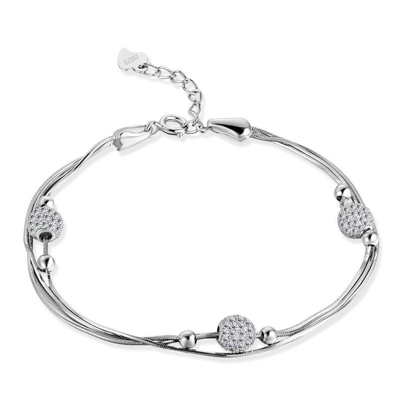 Vòng tay Lắc tay bạc mạ bạch kim đính đá Zircon LILI_897722-04