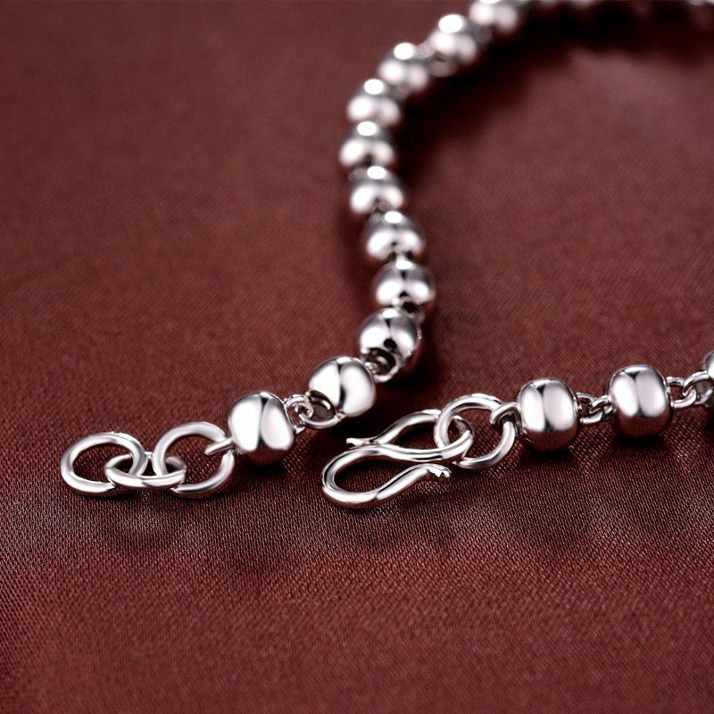Vòng tay Lắc tay bạc mạ bạch kim đính dạng chuỗi hạt LILI_222824-02