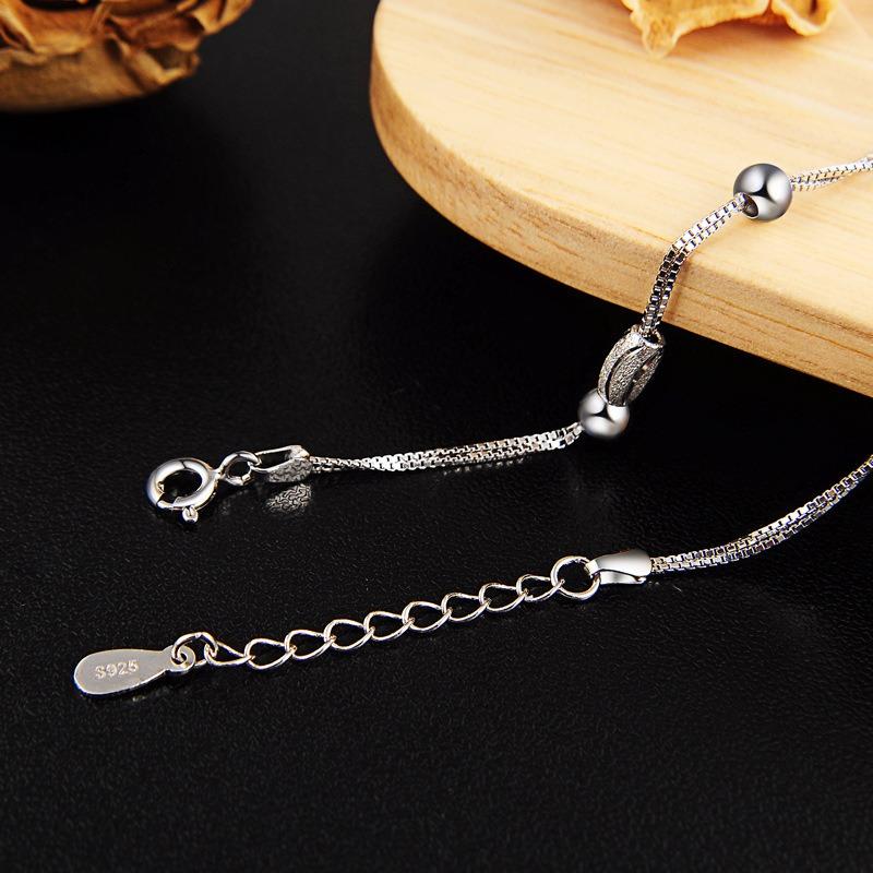 Vòng tay Lắc tay bạc mạ bạch kim đính hạt cườm LILI_847936-01