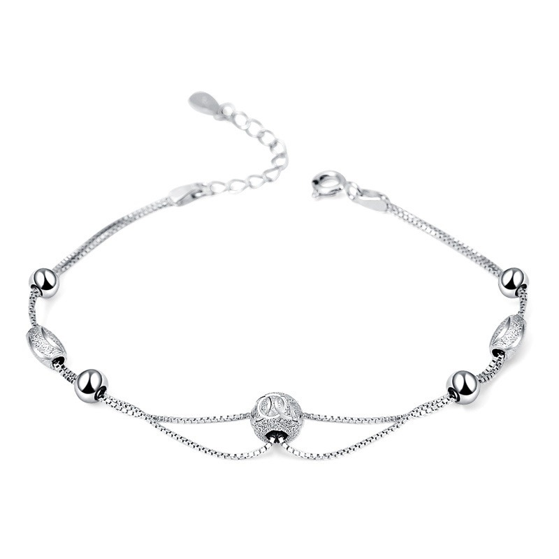 Vòng tay Lắc tay bạc mạ bạch kim đính hạt cư�m LILI_847936-04