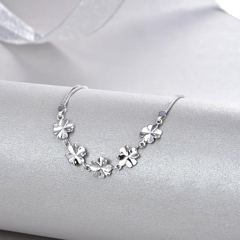 Vòng tay Lắc tay bạc mạ bạch kim hính cánh hoa LILI_443672-02