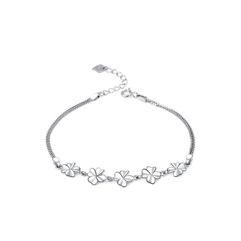 Vòng tay Lắc tay bạc mạ bạch kim hính cánh hoa LILI_443672-04