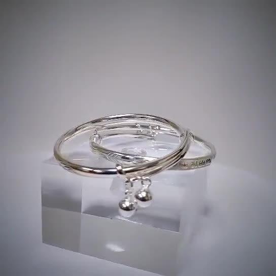 Vòng tay Lắc tay trẻ em bạc mạ bạch kim LILI_186437-01