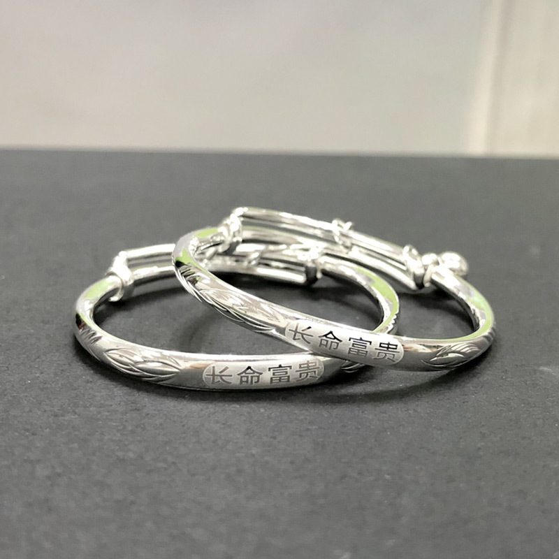 Vòng tay Lắc tay trẻ em bạc mạ bạch kim LILI_186437-02