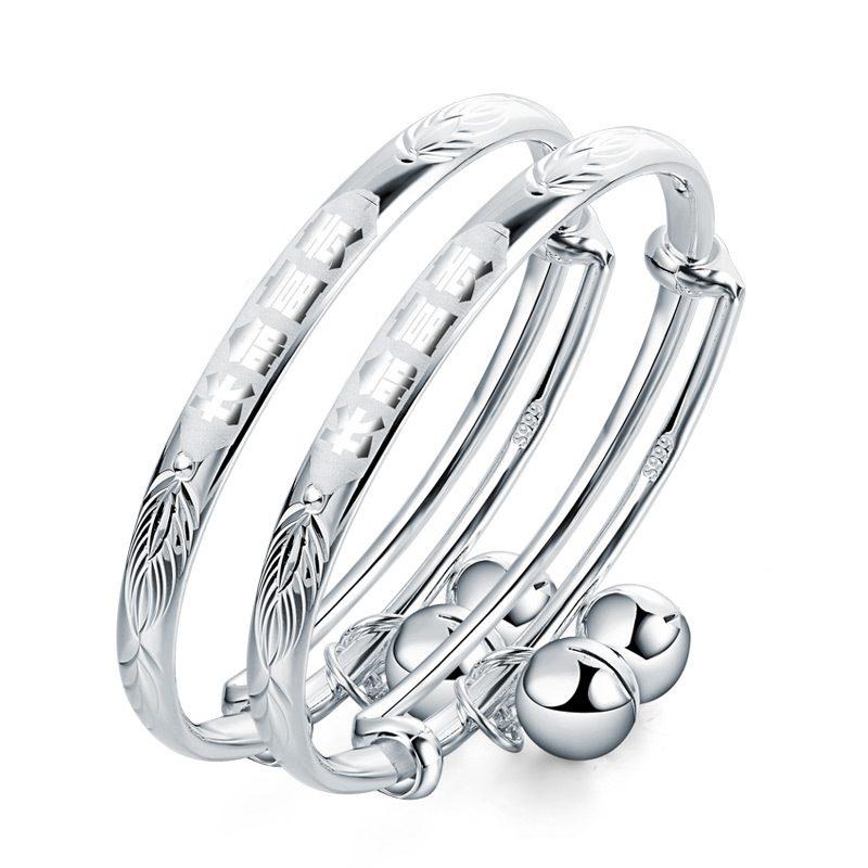 Vòng tay Lắc tay trẻ em bạc mạ bạch kim LILI_186437-04