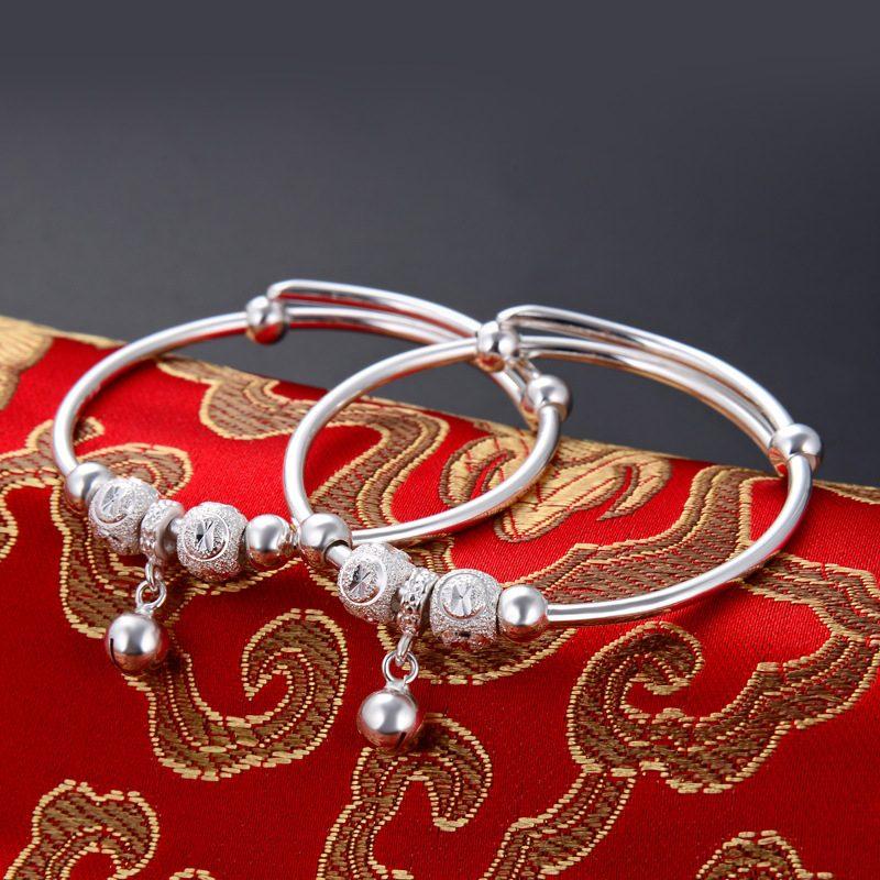 Vòng tay Lắc tay trẻ em bạc mạ bạch kim LILI_966917-02