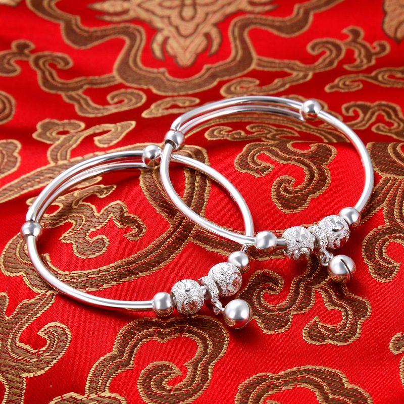 Vòng tay Lắc tay trẻ em bạc mạ bạch kim LILI_966917-03