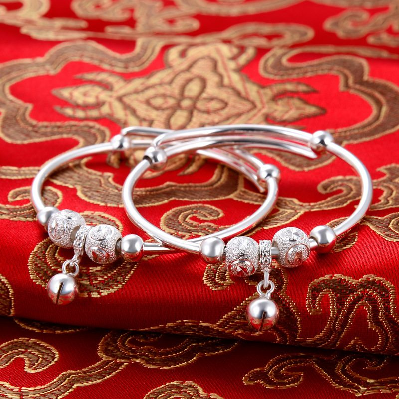 Vòng tay Lắc tay trẻ em bạc mạ bạch kim LILI_966917-04