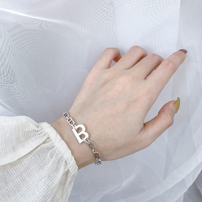 Lắc tay Vòng tay bạc dạng chuỗi Letter B LILI_363575-02