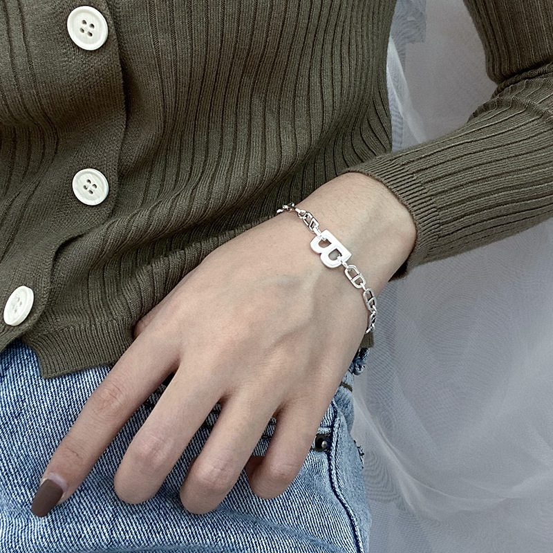 Lắc tay Vòng tay bạc dạng chuỗi Letter B LILI_363575-04