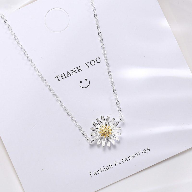 Lắc tay Vòng tay bạc dạng chuỗi hình hoa cúc trắng LILI_975918-03