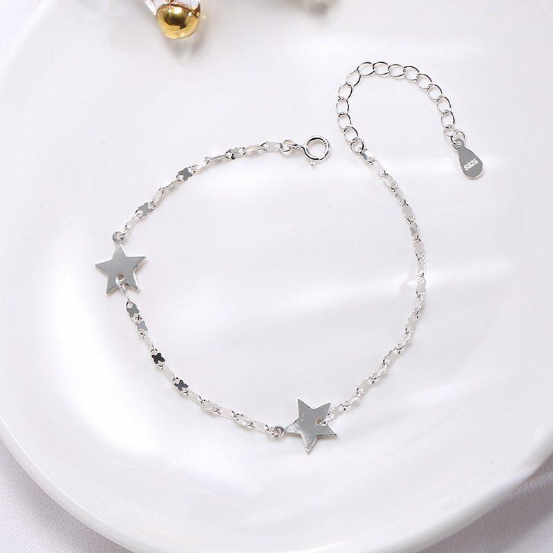 Lắc tay Vòng tay bạc dạng chuỗi hình ngôi sao 5 cánh LILI_845764-01