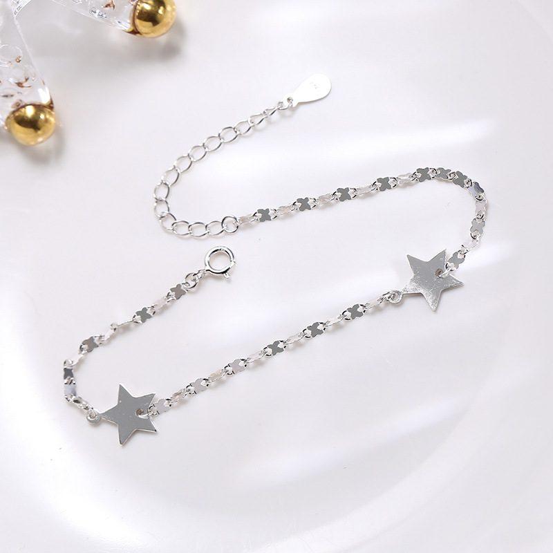 Lắc tay Vòng tay bạc dạng chuỗi hình ngôi sao 5 cánh LILI_845764-02
