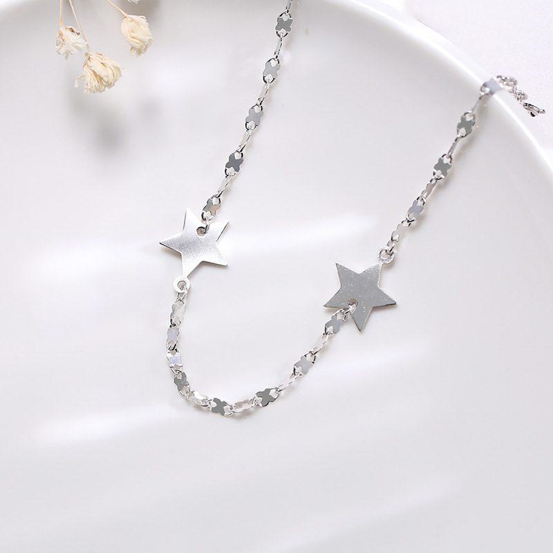 Lắc tay Vòng tay bạc dạng chuỗi hình ngôi sao 5 cánh LILI_845764-03