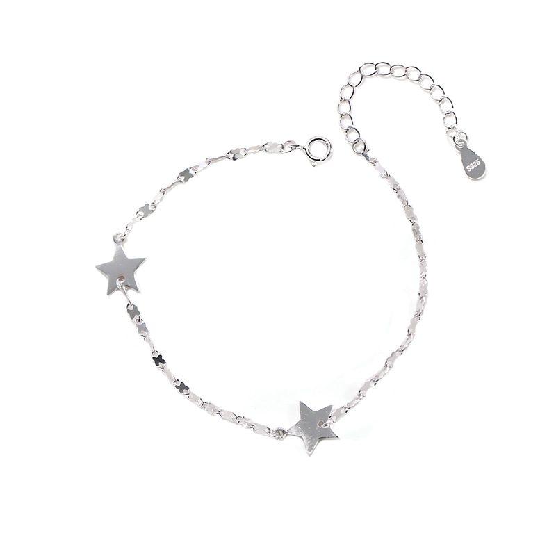 Lắc tay Vòng tay bạc dạng chuỗi hình ngôi sao 5 cánh LILI_845764-04
