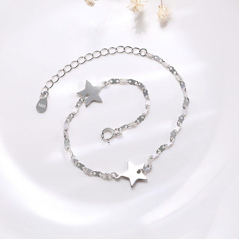 Lắc tay Vòng tay bạc dạng chuỗi hình ngôi sao 5 cánh LILI_845764-05