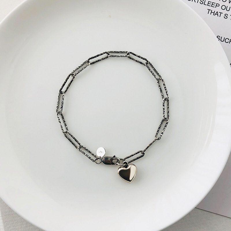 Lắc tay Vòng tay bạc dạng chuỗi hình trái tim LILI_261875-04