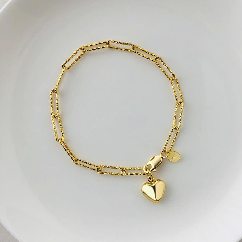 Lắc tay Vòng tay bạc dạng chuỗi hình trái tim LILI_261875-06