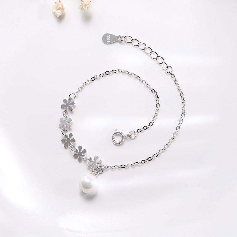 Lắc tay Vòng tay bạc dạnh chuỗi đính ngọc trai LILI_498767-03