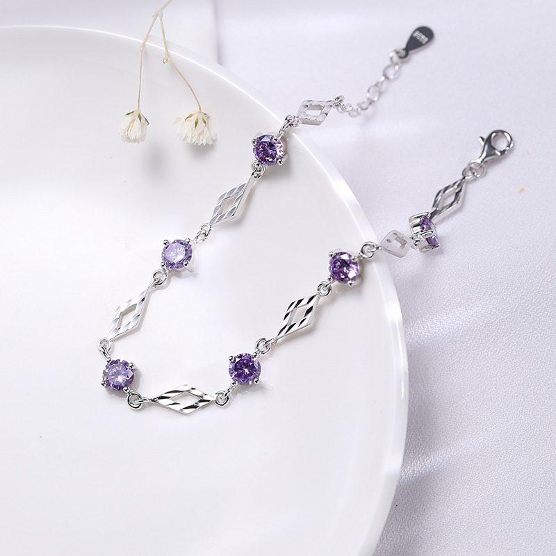 Lắc tay Vòng tay bạc đính đá Zircon Love Bracelet LILI_718369-02