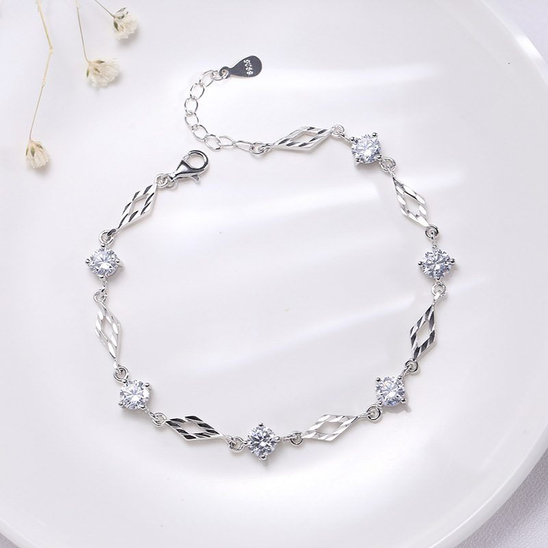 Lắc tay Vòng tay bạc đính đá Zircon Love Bracelet LILI_718369-03