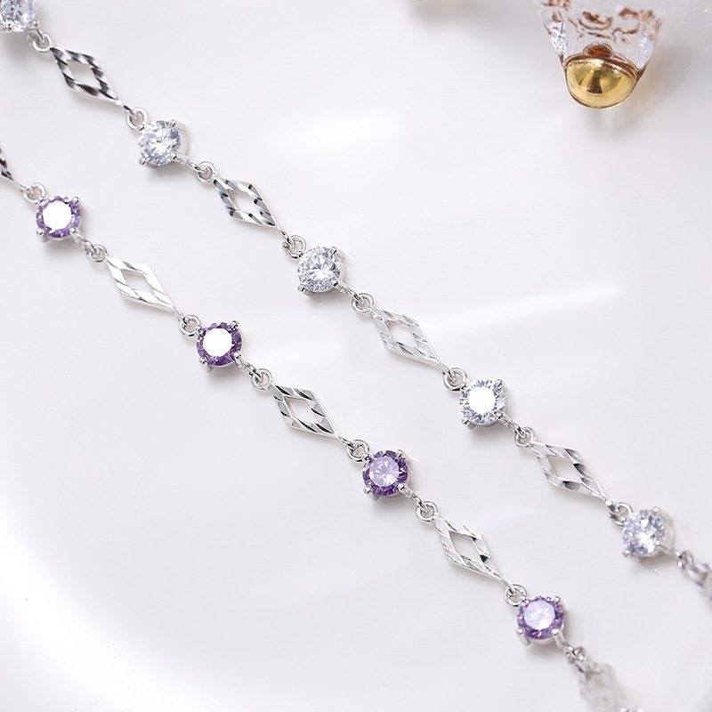 Lắc tay Vòng tay bạc đính đá Zircon Love Bracelet LILI_718369-04