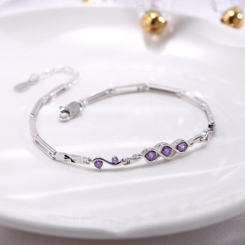 Lắc tay Vòng tay bạc đính đá Zircon The Beauty LILI_421447-01