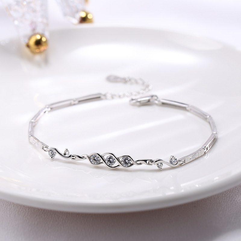Lắc tay Vòng tay bạc đính đá Zircon The Beauty LILI_421447-02