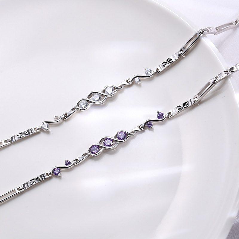 Lắc tay Vòng tay bạc đính đá Zircon The Beauty LILI_421447-03